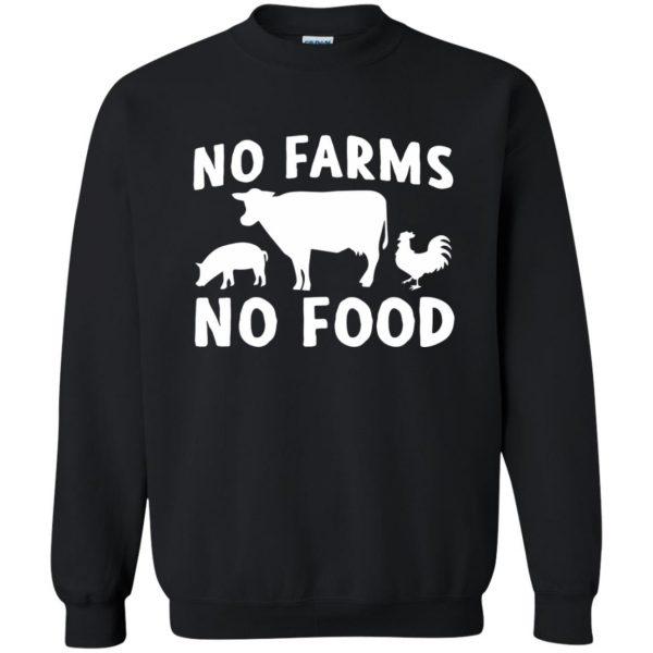 no farms no food shirt sweatshirt - black