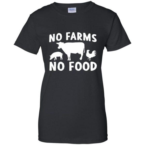 no farms no food shirt womens t shirt - lady t shirt - black
