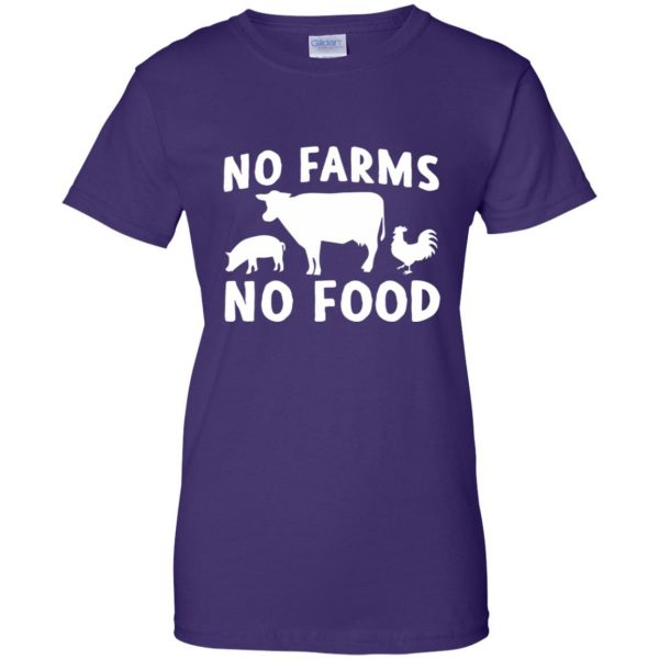 no farms no food shirt womens t shirt - lady t shirt - purple