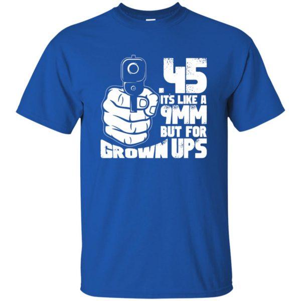 45 acp t shirt - royal blue