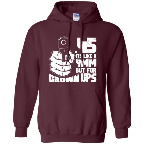 45 acp hoodie - maroon