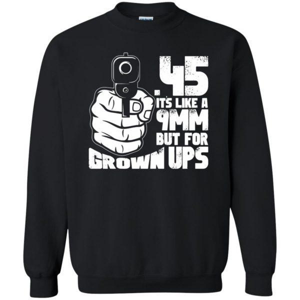 45 acp sweatshirt - black