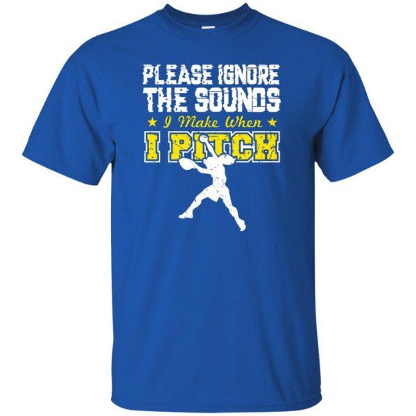 softball pitcher t shirts t shirt - royal blue
