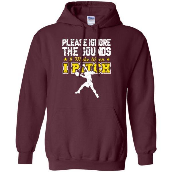 softball pitcher t shirts hoodie - maroon