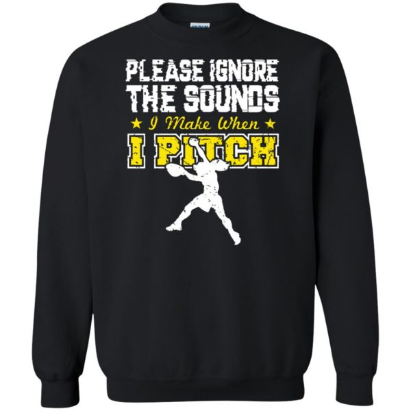 softball pitcher t shirts sweatshirt - black