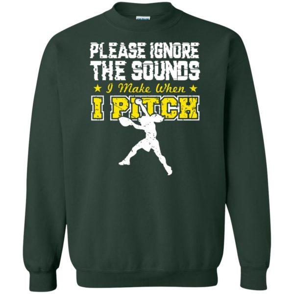 softball pitcher t shirts sweatshirt - forest green