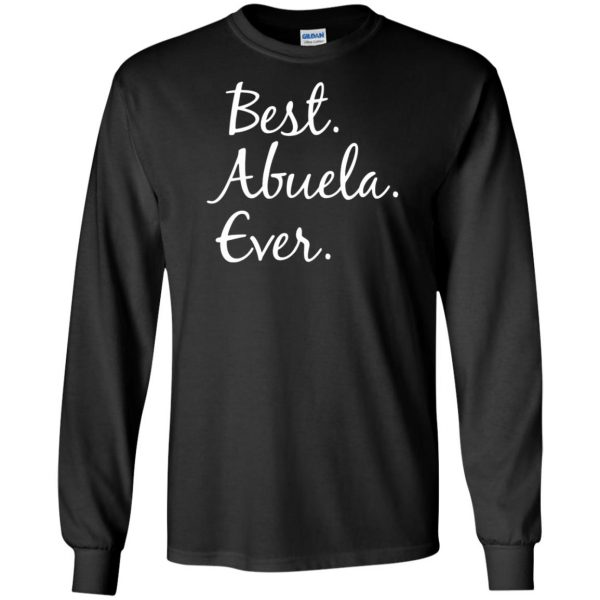 abuela shirt long sleeve - black