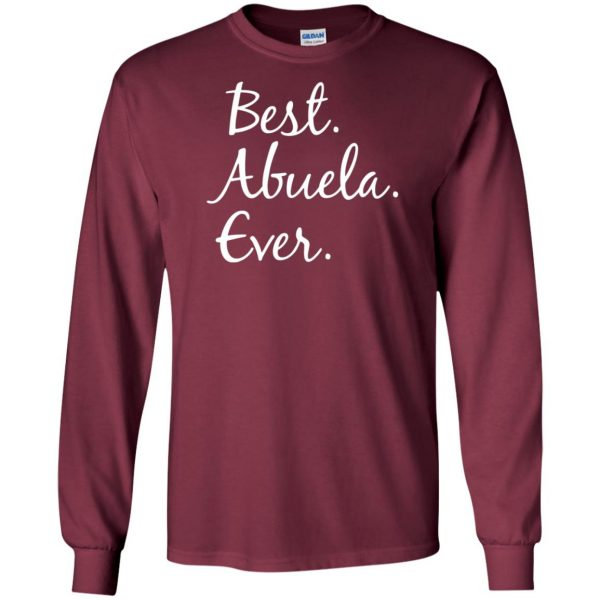 abuela shirt long sleeve - maroon