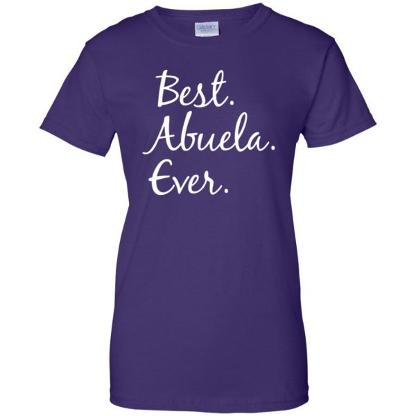 abuela shirt womens t shirt - lady t shirt - purple