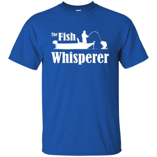 fish whisperer t shirt t shirt - royal blue