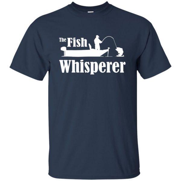 fish whisperer t shirt - navy blue