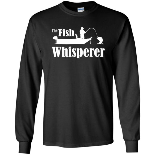 fish whisperer t shirt long sleeve - black