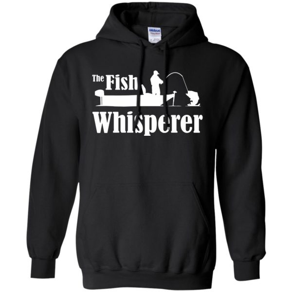 fish whisperer t shirt hoodie - black
