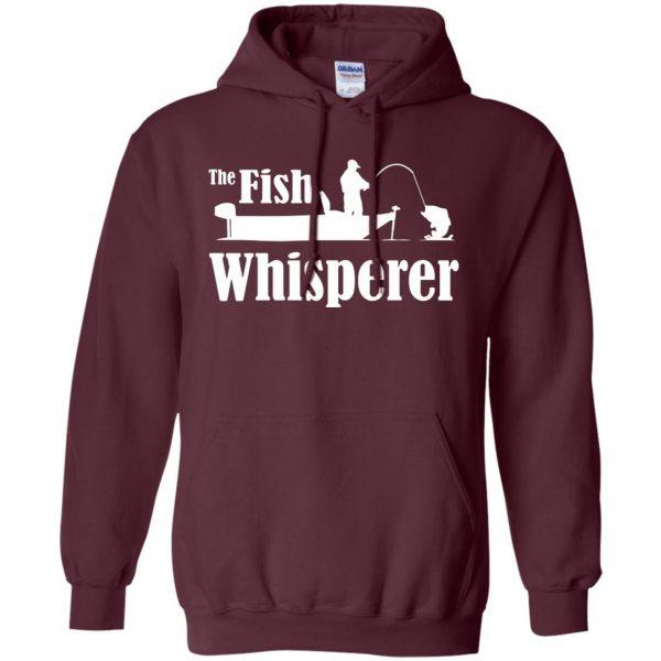 fish whisperer hoodie - maroon