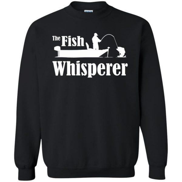 fish whisperer sweatshirt - black