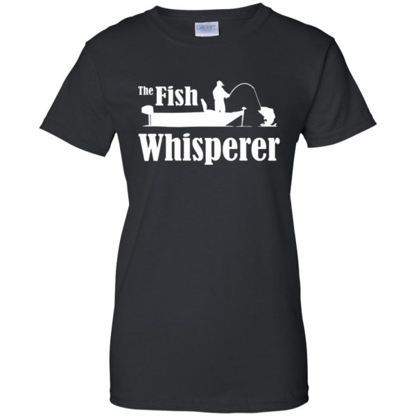 fish whisperer t shirt womens t shirt - lady t shirt - black