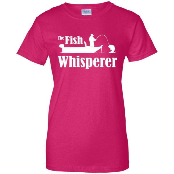 fish whisperer t shirt womens t shirt - lady t shirt - pink heliconia