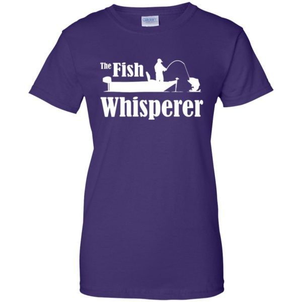 fish whisperer t shirt womens t shirt - lady t shirt - purple