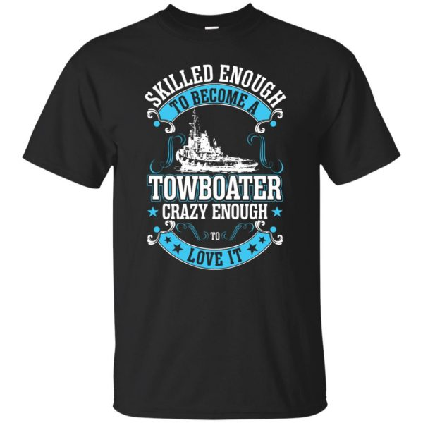 towboater t shirts - black