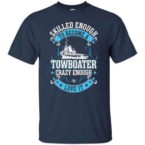 towboater t shirt - navy blue