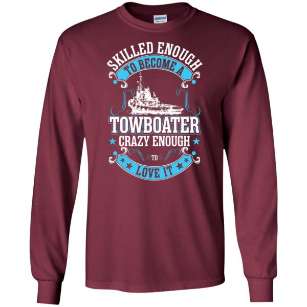 towboater long sleeve - maroon