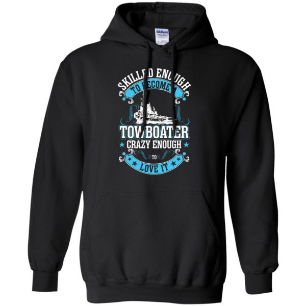 towboater t shirts hoodie - black