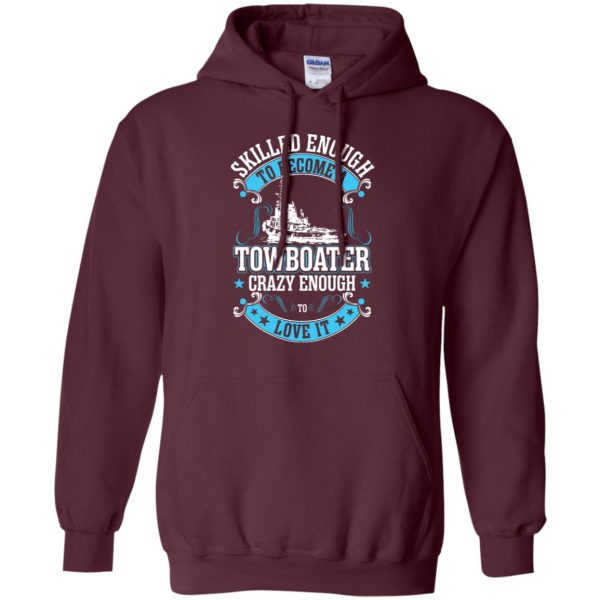 towboater t shirts hoodie - maroon