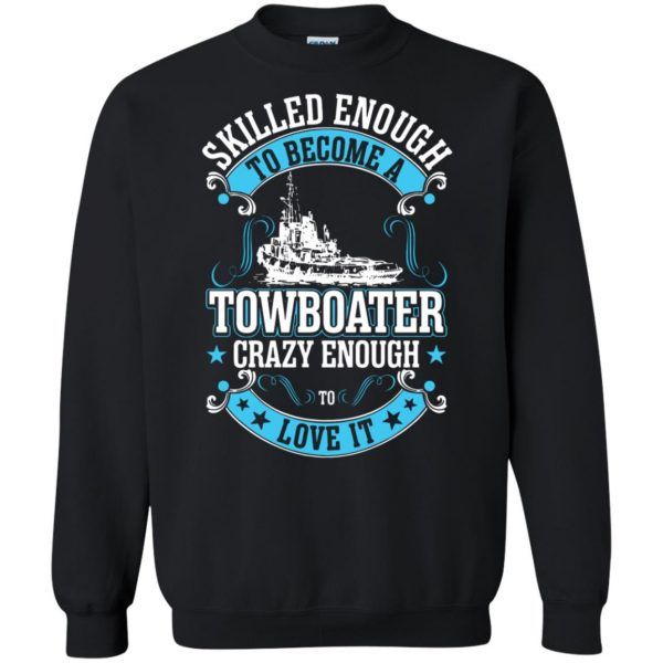 towboater t shirts sweatshirt - black