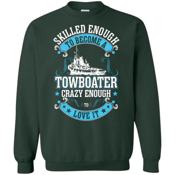 towboater sweatshirt - forest green