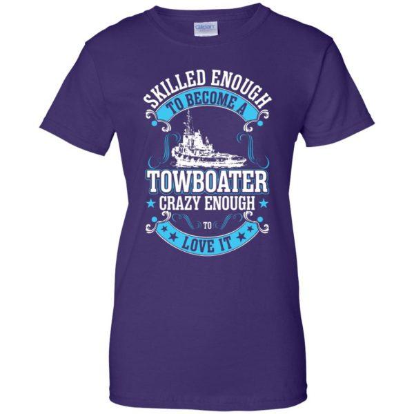 towboater t shirts womens t shirt - lady t shirt - purple
