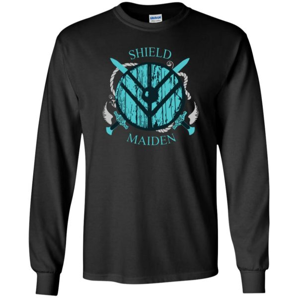 shieldmaiden shirt long sleeve - black