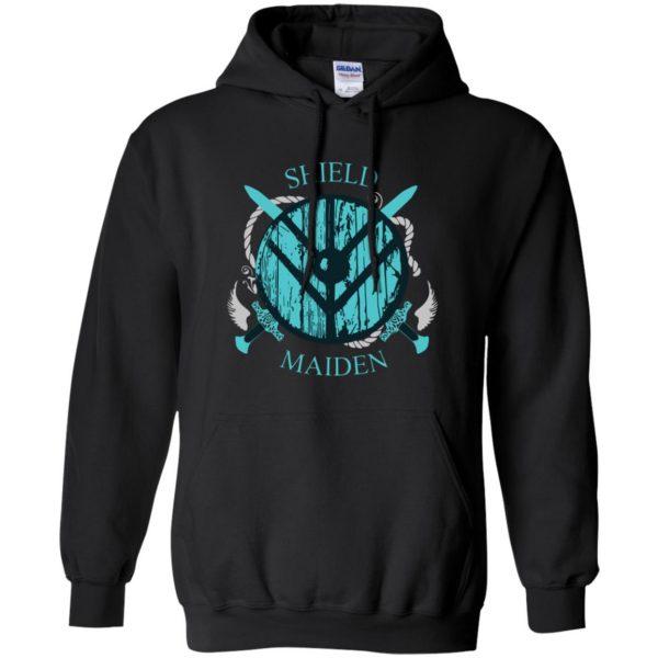 shieldmaiden shirt hoodie - black