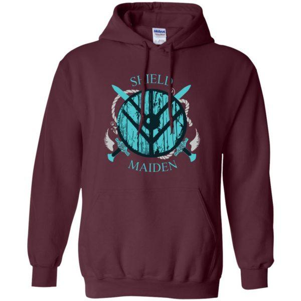 shieldmaiden hoodie - maroon