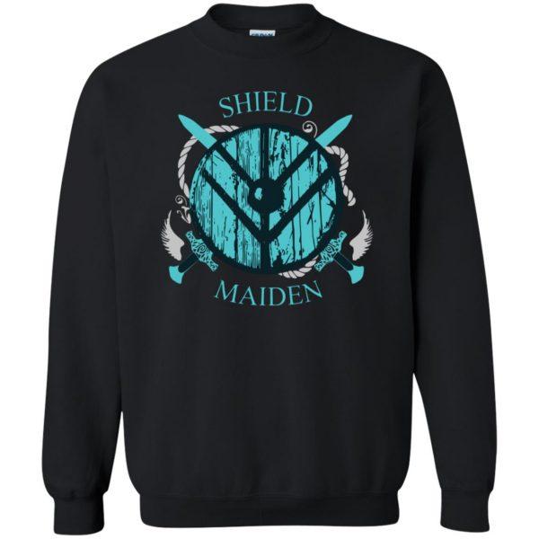 shieldmaiden shirt sweatshirt - black