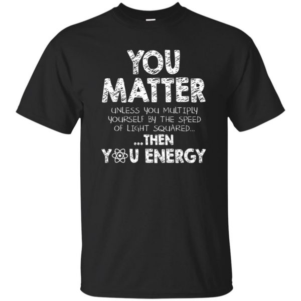 you matter t-shirt - black