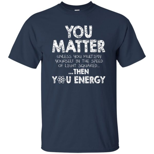 you matter t shirt - navy blue