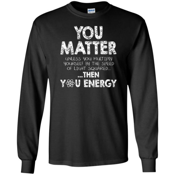 you matter long sleeve - black