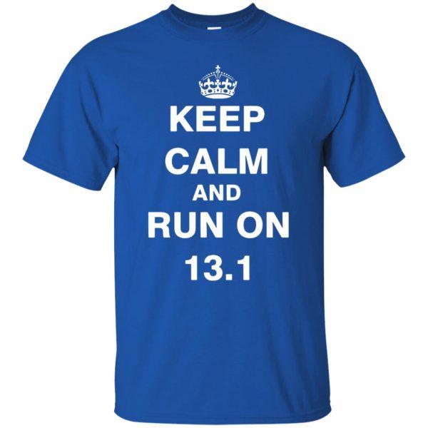 13.1 Half Marathon t shirt - royal blue