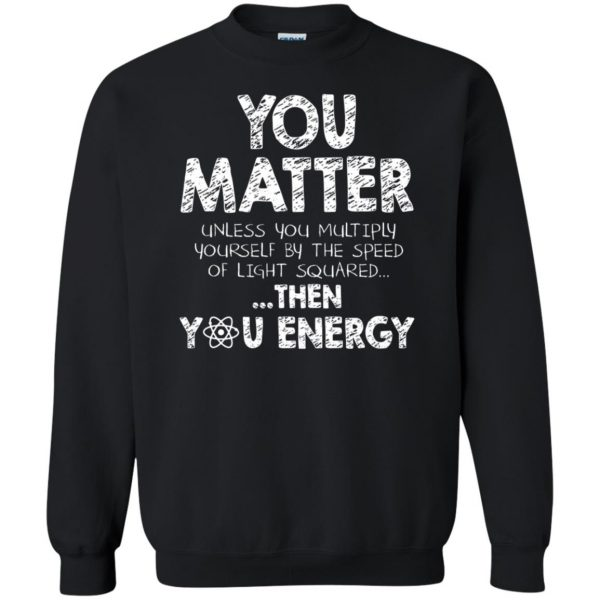 you matter sweatshirt - black