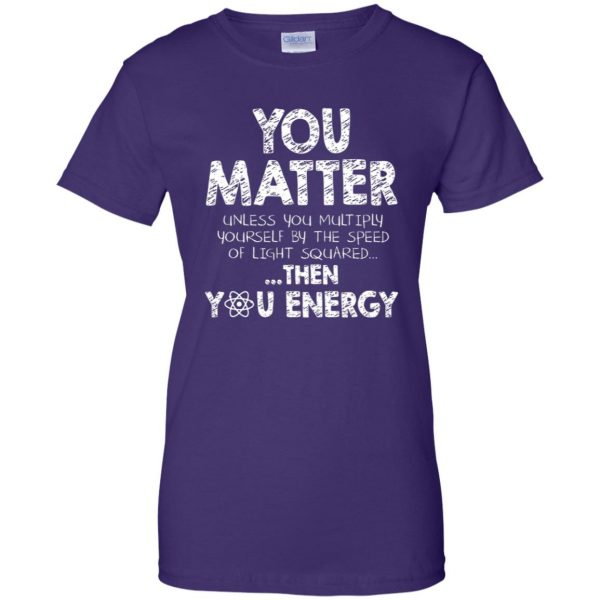 you matter womens t shirt - lady t shirt - purple