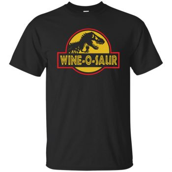 wine o saur shirt - black