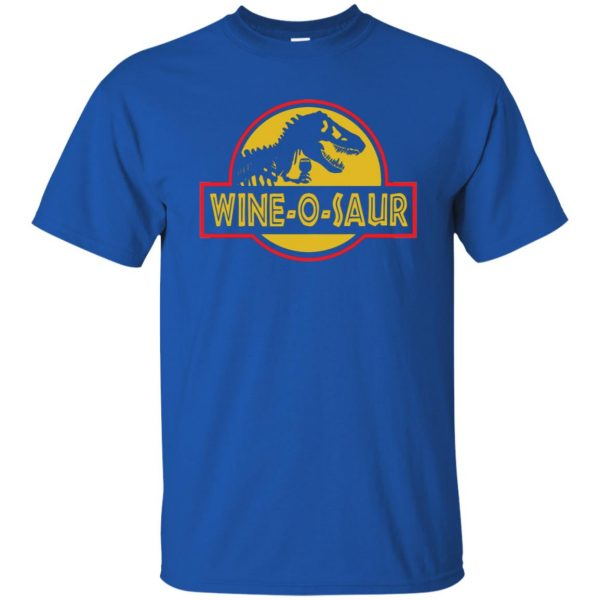 wine o saur t shirt - royal blue