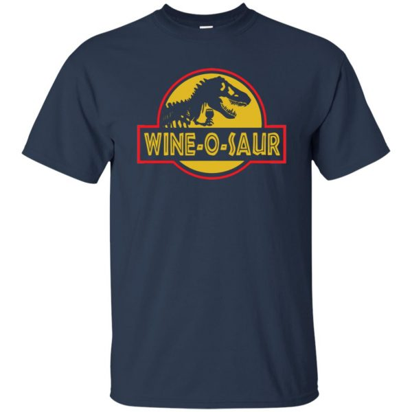 wine o saur t shirt - navy blue