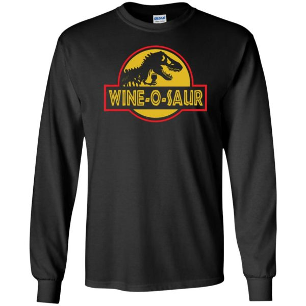 wine o saur long sleeve - black