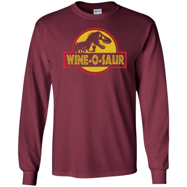 wine o saur long sleeve - maroon