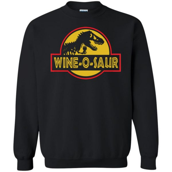 wine o saur sweatshirt - black