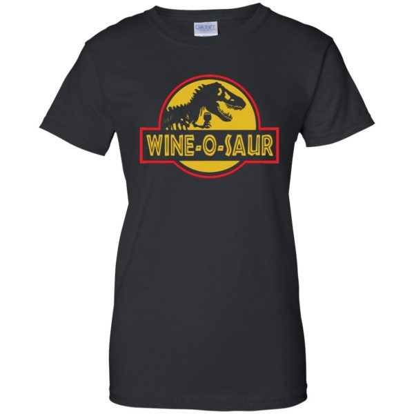 wine o saur womens t shirt - lady t shirt - black