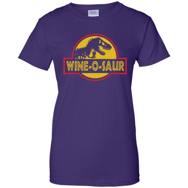wine o saur womens t shirt - lady t shirt - purple