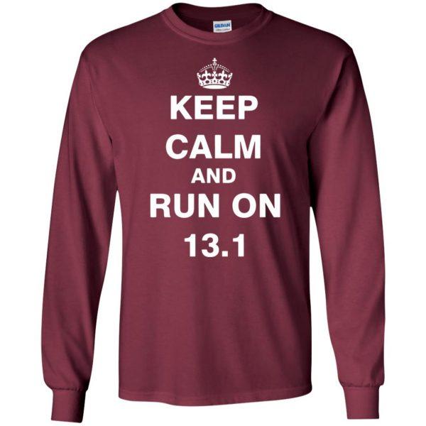 13.1 Half Marathon long sleeve - maroon