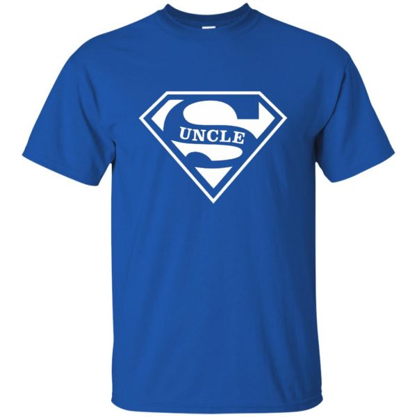 super uncle t shirt t shirt - royal blue
